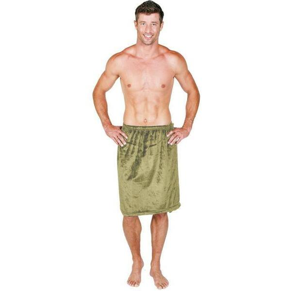 Canyon Rose Cloud 9 Microplush Men's Spa Wrap Sage
