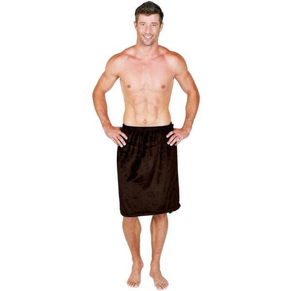 Canyon Rose Cloud 9 Microplush Men's Spa Wrap Chocolate