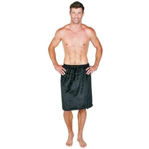 Canyon Rose Cloud 9 Microplush Men's Spa Wrap Black