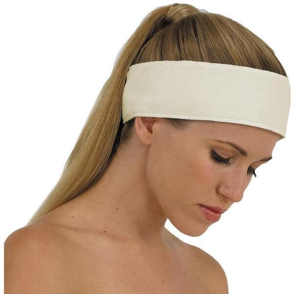 "Canyon Rose Cloud 9 Microplush Headband - 3"" Wide with Velcro Closure Sand"