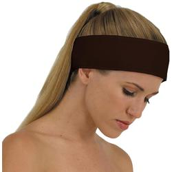 "Canyon Rose Cloud 9 Microplush Headband - 3"" Wide with Velcro Closure Chocolate"