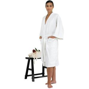 "Canyon Rose Cloud 9 Microplush Spa Robe - 42"" Long - One Size Fits Most White"