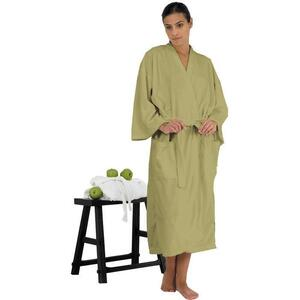 "Canyon Rose Cloud 9 Microplush Spa Robe - 48"" Long - XL Sage"