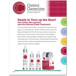 "Control Corrective - Counter Card Dermal Flash Treatment 8.5"" x 11"""