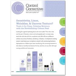 "Control Corrective - Counter Card Revitalizing Cream Peel Facial 8.5"" x 11"""