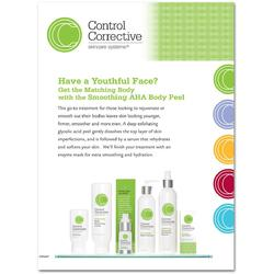 "Control Corrective - Counter Card Smoothing AHA Body Peel 8.5"" x 11"""