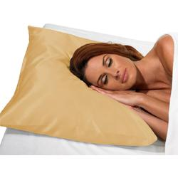 "Betty Dain Satin Pillow Case - Beige 21"" X 25"""
