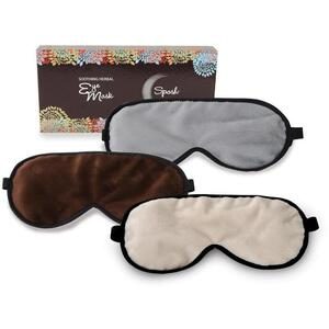 "Sposh Minky Herbal Eye Mask - 8.75"" x 4"" Available in Java Enchanted Moonstone and Cream"