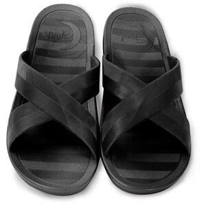 Sposh Cross Strap Sandal - Affordable & Sanitizable Black