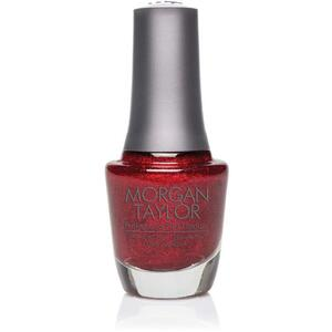 Morgan Taylor Nail Lacquer - Fit For A Queen (Deep Ruby Glitter) 0.5 oz.