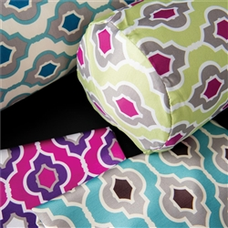 "Sposh Bolster Cover Moroccan Collection 8"" - Available in Moroccan New Leaf Moroccan Turquoise Moroccan Purple & Moroccan Blue Agate"