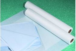 "Disposable Table Sheets, 40""W x 90""L / 50 Count / Blue (770 0026)"