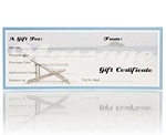 Gift Certificates Beach Design 25 Pack (243 0056)