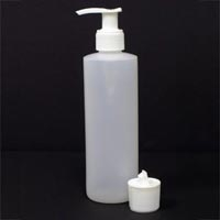 8 oz. Plastic Bottle And Flip Top Cap With Pump (2