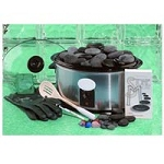 Stone Massage with 50 Stones DVD with 6 Qt Warmer