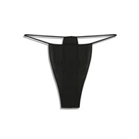 Disposable Bikini Panties Black 12Package One Siz