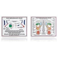 "Laminated Foot Reflexology Chart 8.5"" X 11"" (573 0"
