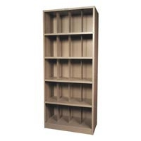 X-Ray Shelving 5 Shelf 36x18x84 3 Dividers (690 00