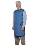 Lead Apron with Velcro Close X-long Medium Blue (6