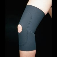 Neoprene Knee Sleeve With Open Patella Large 15-17