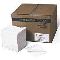 "Professional Towels 2ply 13""X18"" White (767 0006)"