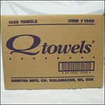 "Q-towels 9""X12"" 1500Box White (767 0010)"