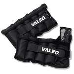 Valeo Adjustable AnkleWrist Weights 5 Lbs. Black