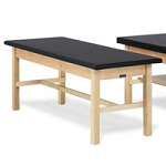 "Bailey Basic Treatment Table with H-brace 1"" Uph T"