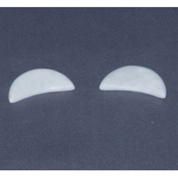 Marble Crescent Eye Stones / Pair (281 0102)