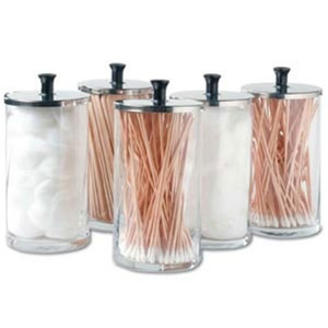 Glass Dispenser Supply Jars / Set Of 6 / 25 oz. Each (272 0133)
