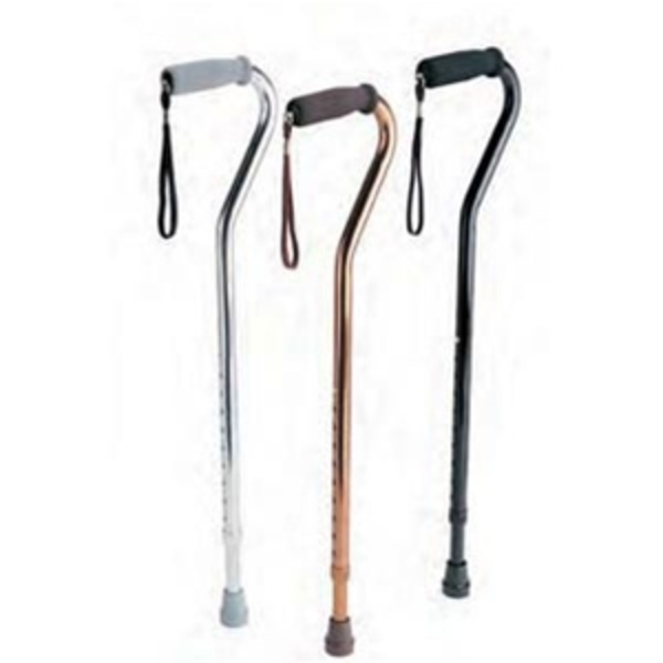 Aluminum Cane With Offset Handle (762 0026)