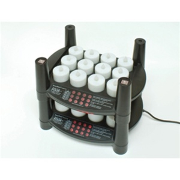 Rechargeable Flameless Tea Light Candles 24 Candles + 2 Stackable Charging Bases (253 0062 02)