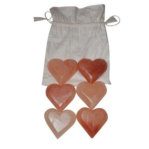 Himalayan Salt Massage Stones Hearts Set of 6 (281 0202)