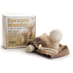 Ceramic Reflexology Massage Globes - White 1 Pair (230 0222)