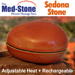 The Med-Stone Sedona Stone - Rechargeable Adjustable Temperature Stone for Hot Stone Massage (281 0111)