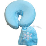 Spa Pocket - Face Cradle Slip Cover - Embroidered Microplush Turquoise-Snowflake (229 1074 21)