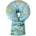 Spa Pocket - Face Cradle Slip Cover - Patterned Microplush Paisley-Tranquil Escape (229 1073 18)