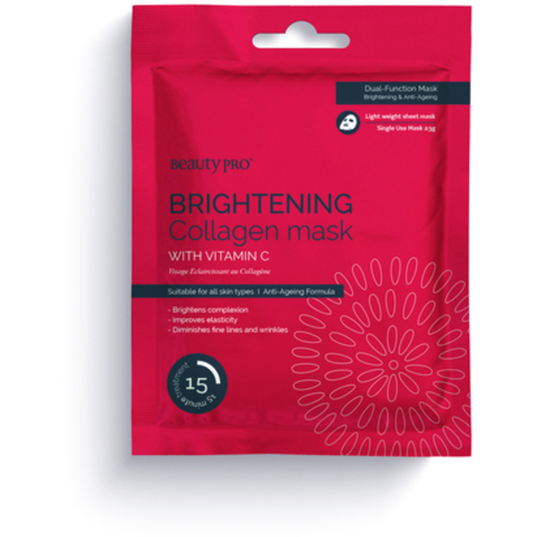 Beauty Pro® Brightening Collagen Sheet Mask with Vitamin-C 23 Grams (280 0321 01)