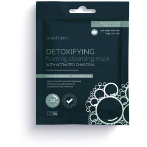 Beauty Pro® Detoxifying Cleansing & Foaming Mask with Activated Charcoal 18 mL. (280 0321 04)