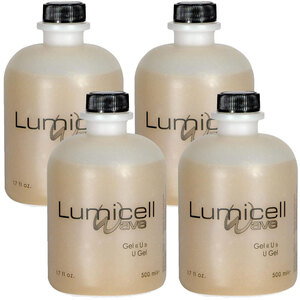 "Silhouet-Tone Gel ""U"" Ultrasound Gel Case of (4) 17 fl. oz. - 500 mL. Bottles = 67.6 oz. - 2 Liters Total"