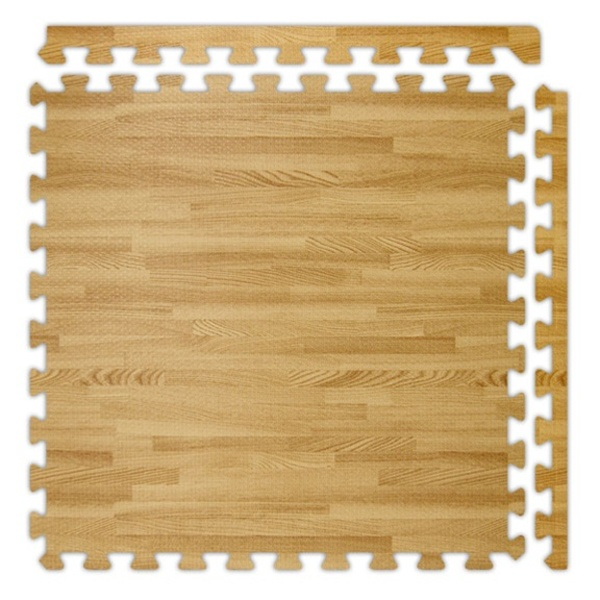 SoftWoods Wood Color Foam Interlocking Flooring - 34' Series by Alessco