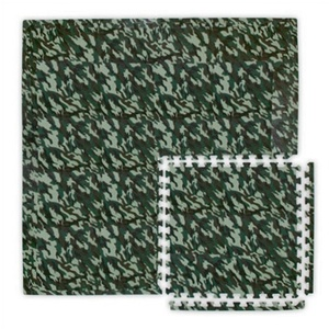 SoftCamo Camouflage-Colored Foam Interlocking Flooring- Extra Pieces Corners Borders Insides by Alessco