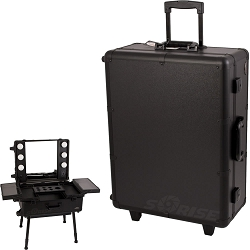 Black Studio Makeup Case with Led (C6011PPAB)