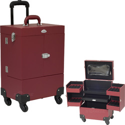 Red Leather Nail Rolling Case (C6027PVRD)