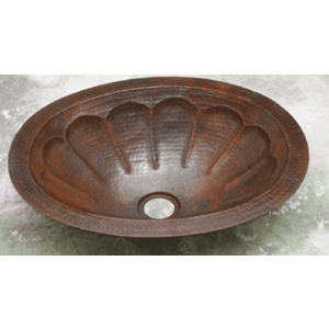 SPECIAL PRICE-Copper Bath Oval-Pumpkin Sink-Limited Quantities Available! by Pure Spa Copper Elements