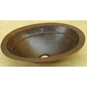 Copper Bath Oval-Barb WireHorse Sink-Limited Quantities Available! by Pure Spa Copper Elements