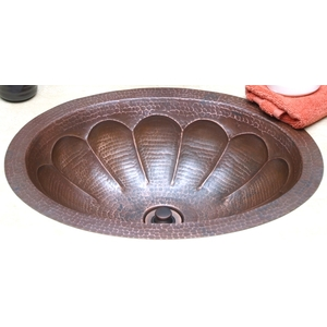 Copper Bath Oval-Pumpkin Sink by Pure Spa Copper Elements