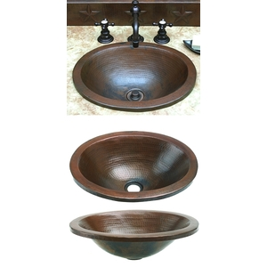 Oval Apron Vessel Sink by Pure Spa Copper Elements