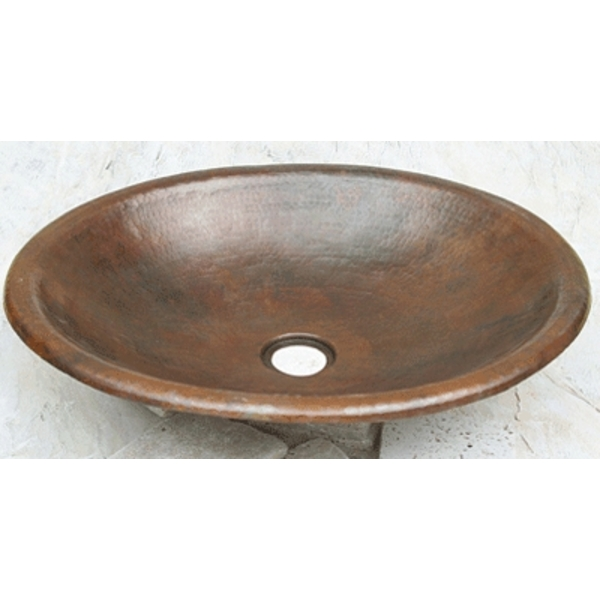 Copper Sink Shallow Oval with Rolled Edge by Pure Spa Copper Elements