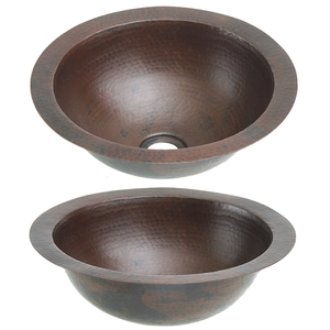 Copper Bath Round Sink by Pure Spa Copper Elements